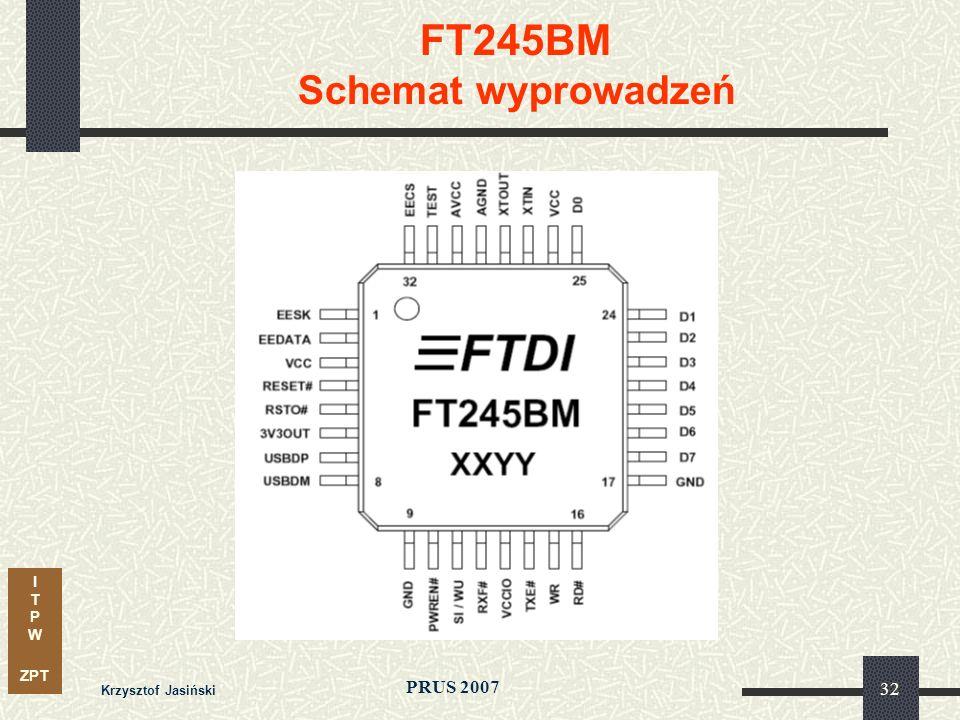 I T P W ZPT PRUS 2007 Krzysztof Jasiński 32 FT245BM Schemat wyprowadzeń