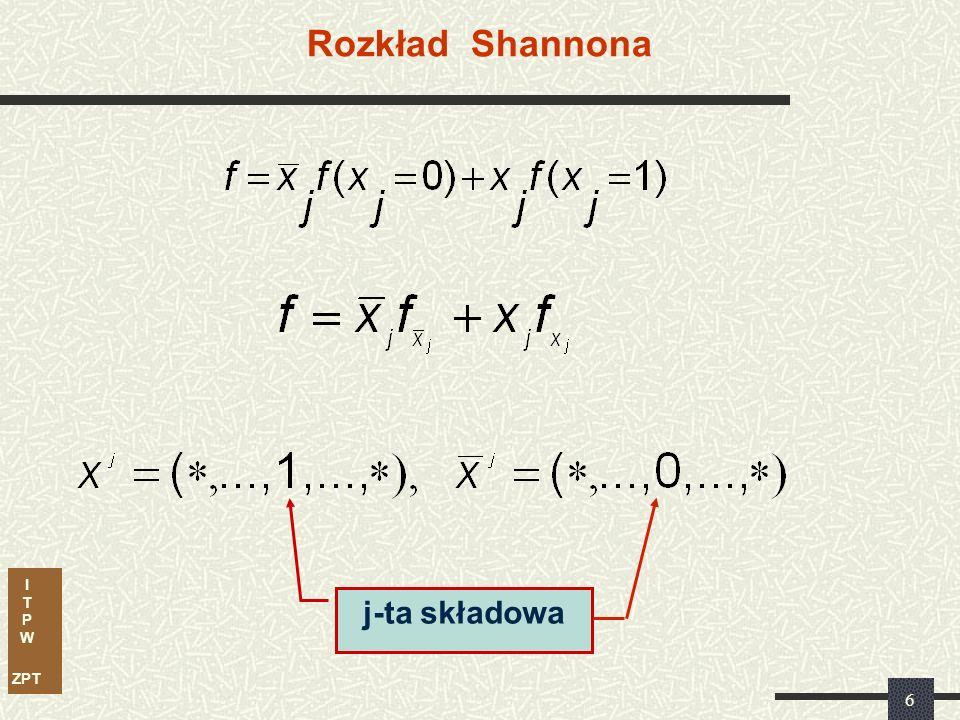 I T P W ZPT 5 Obliczanie kofaktora W celu obliczenia kofaktora kostki k względem kostki c: a.