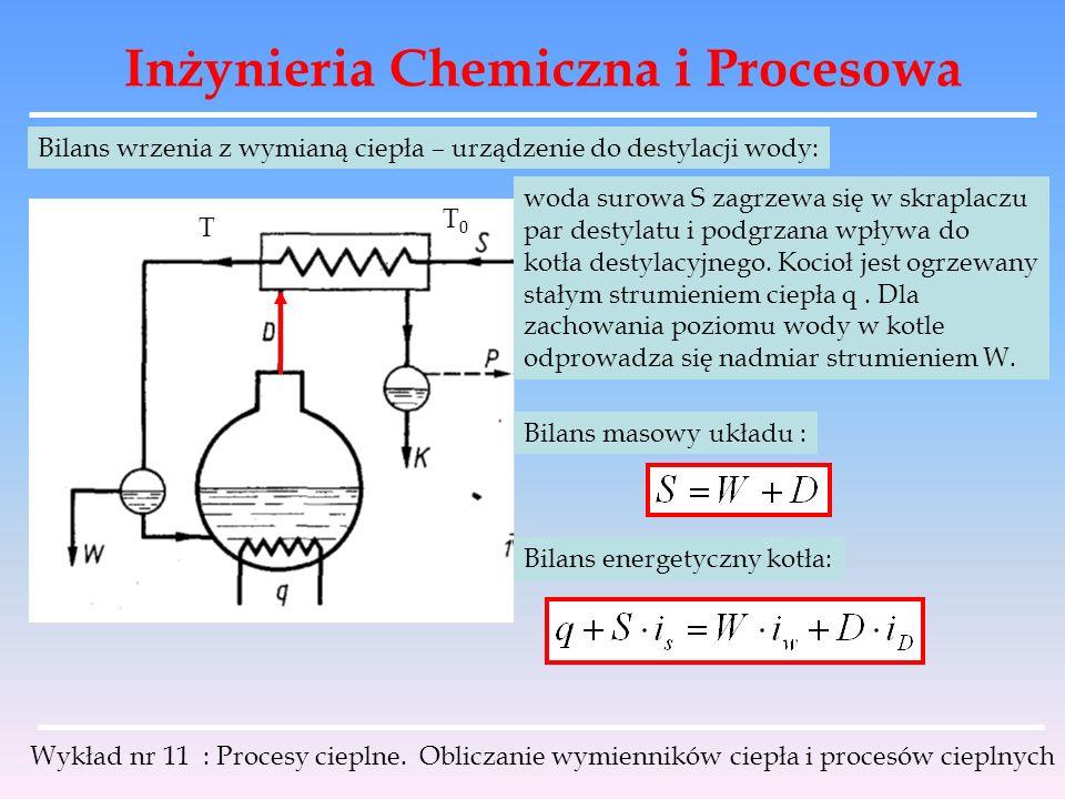 Inżynieria Chemiczna i Procesowa Wykład nr 11 : Procesy cieplne.