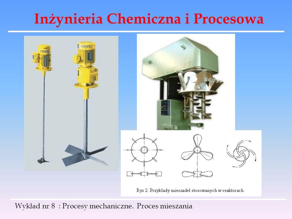 Inżynieria Chemiczna i Procesowa Wykład nr 8 : Procesy mechaniczne. Proces mieszania