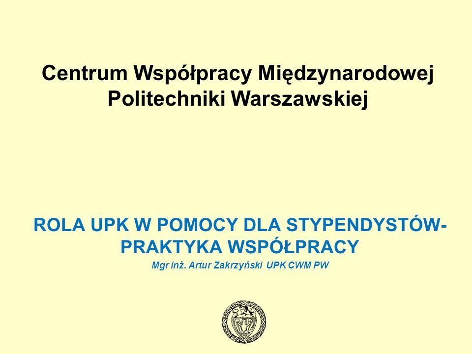 KIM JESTEŚMY Centrum Współpracy Międzynarodowej Politechniki Warszawskiej prowadzi działalność organizacyjną, doradczą i promocyjną, integrującą i koordynującą działalność Uczelni w zakresie współpracy międzynarodowej.
