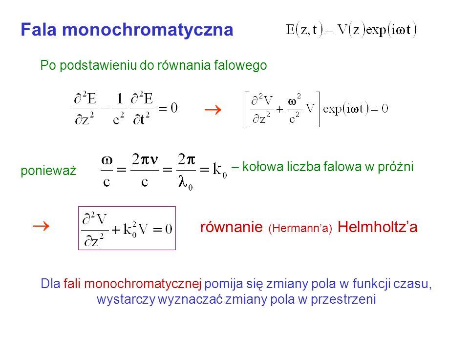 Widmo promieniowania atomu cd Atom nigdy nie promieniuje światłem monochromatycznym Im większe tłumienie (współczynnik a mniejszy) tym szersze widmo p