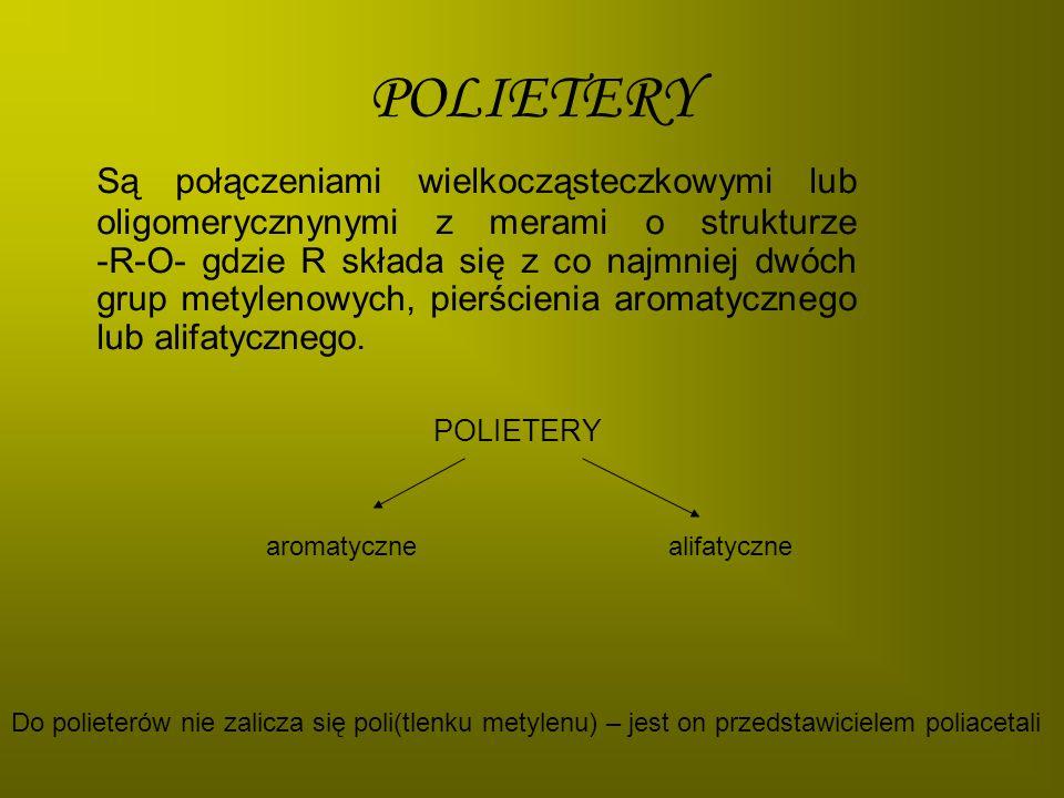 POLI(TLENEK PROPYLENU) OTRZYMYWANIE: polimeryzacja anionowa w obecności zasad (glicerynian potasu, KOH).