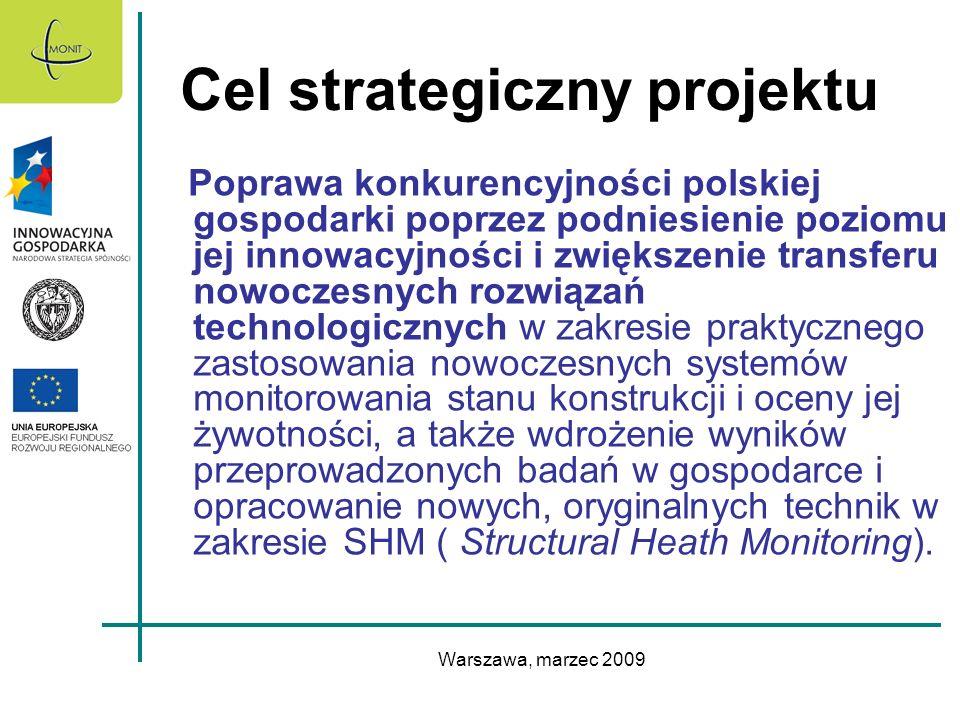 Warszawa, marzec 2009 Cel strategiczny projektu Poprawa konkurencyjności polskiej gospodarki poprzez podniesienie poziomu jej innowacyjności i zwiększ