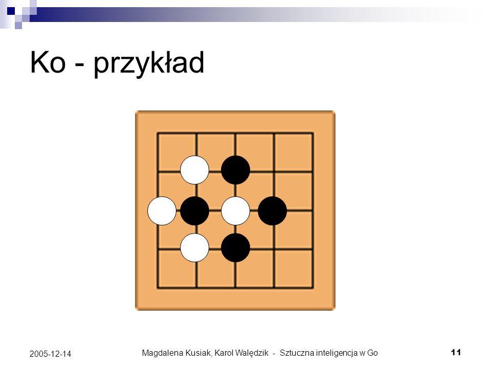 Magdalena Kusiak, Karol Walędzik - Sztuczna inteligencja w Go11 2005-12-14 Ko - przykład