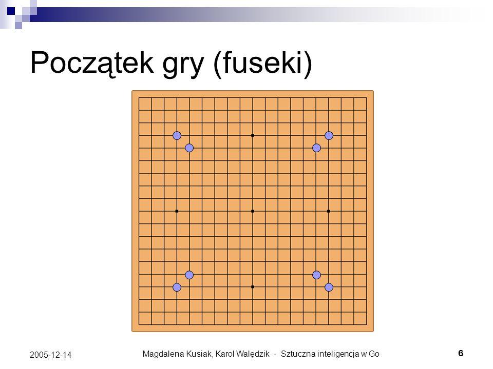Magdalena Kusiak, Karol Walędzik - Sztuczna inteligencja w Go17 2005-12-14 Semeai Sytuacja, w której każda z dwóch grup musi zniszczyć drugą, żeby przeżyć: