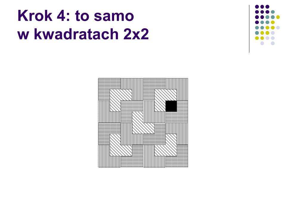 Krok 4: to samo w kwadratach 2x2