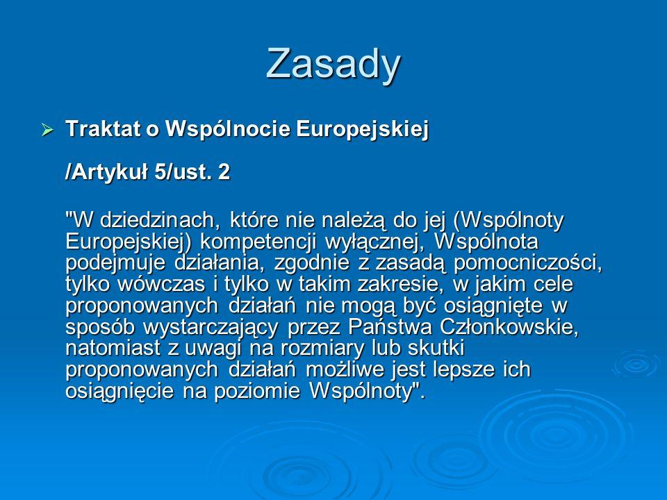Zasady Traktat o Wspólnocie Europejskiej /Artykuł 5/ust. 2 Traktat o Wspólnocie Europejskiej /Artykuł 5/ust. 2