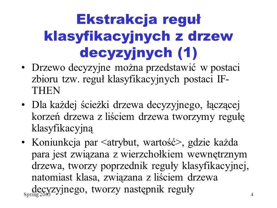 Spring 200315 Przykład 3 (1) Rozważmy Przykład 2.