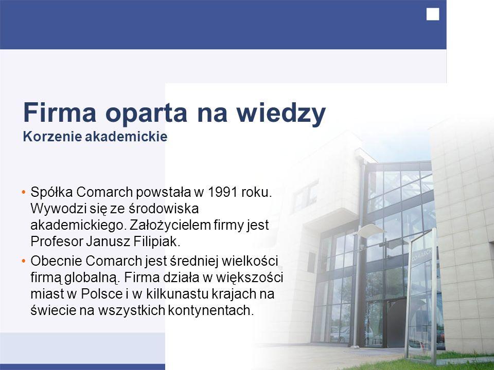 Spółka Comarch powstała w 1991 roku. Wywodzi się ze środowiska akademickiego.