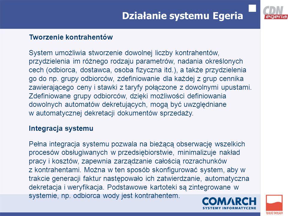 Tworzenie kontrahentów System umożliwia stworzenie dowolnej liczby kontrahentów, przydzielenia im różnego rodzaju parametrów, nadania określonych cech (odbiorca, dostawca, osoba fizyczna itd.), a także przydzielenia go do np.