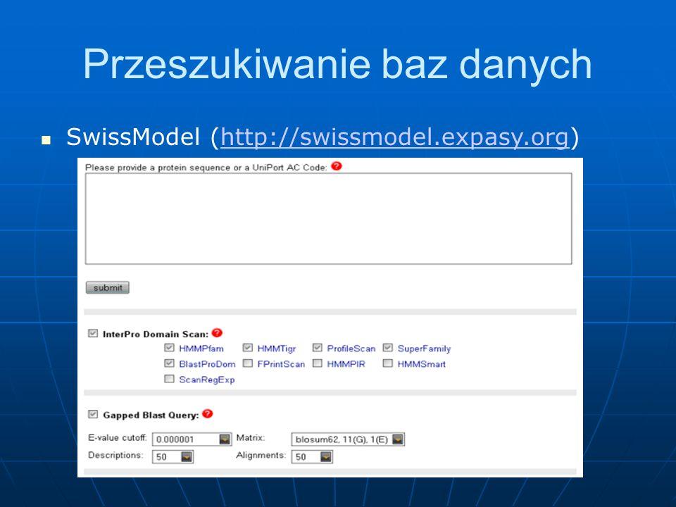 SwissModel (http://swissmodel.expasy.org)http://swissmodel.expasy.org