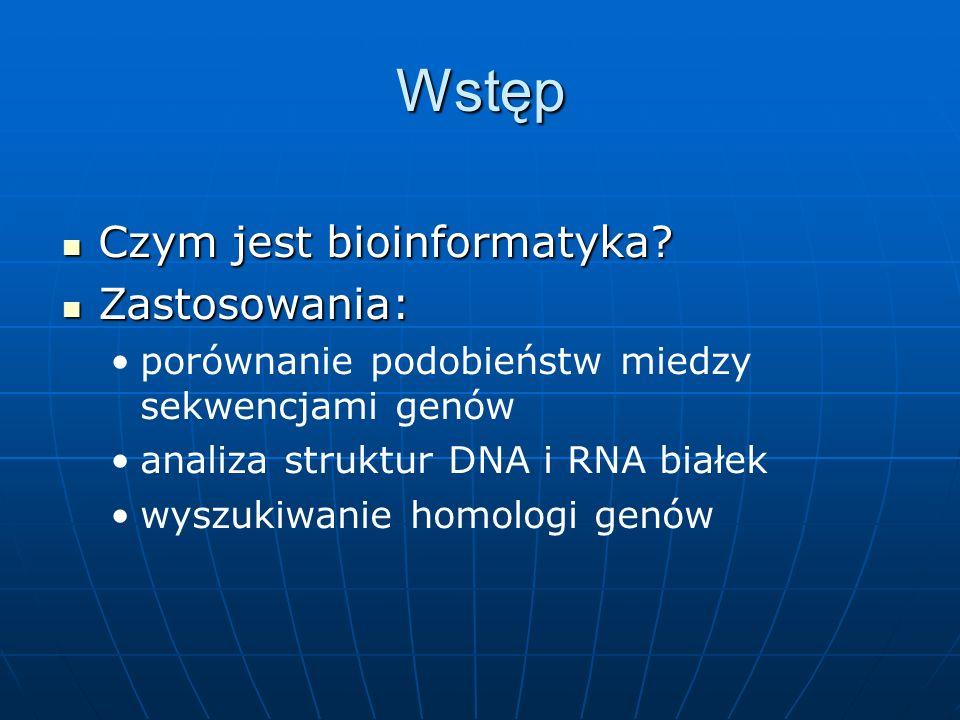 Wstęp Czym jest bioinformatyka. Czym jest bioinformatyka.