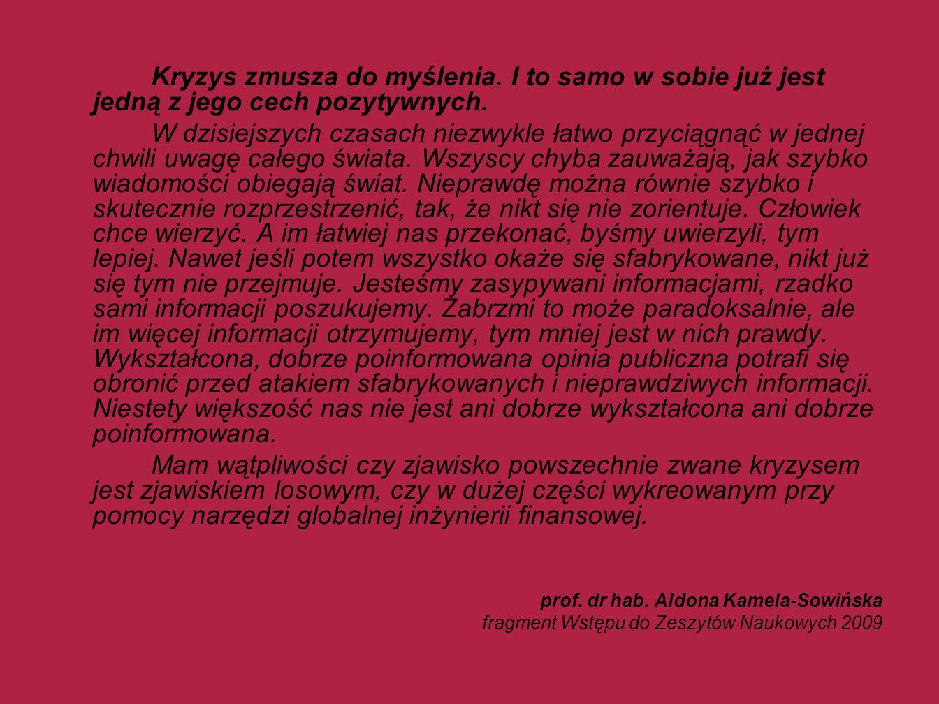 PROGRAM KONFERENCJI Sesja I Moderator: prof.