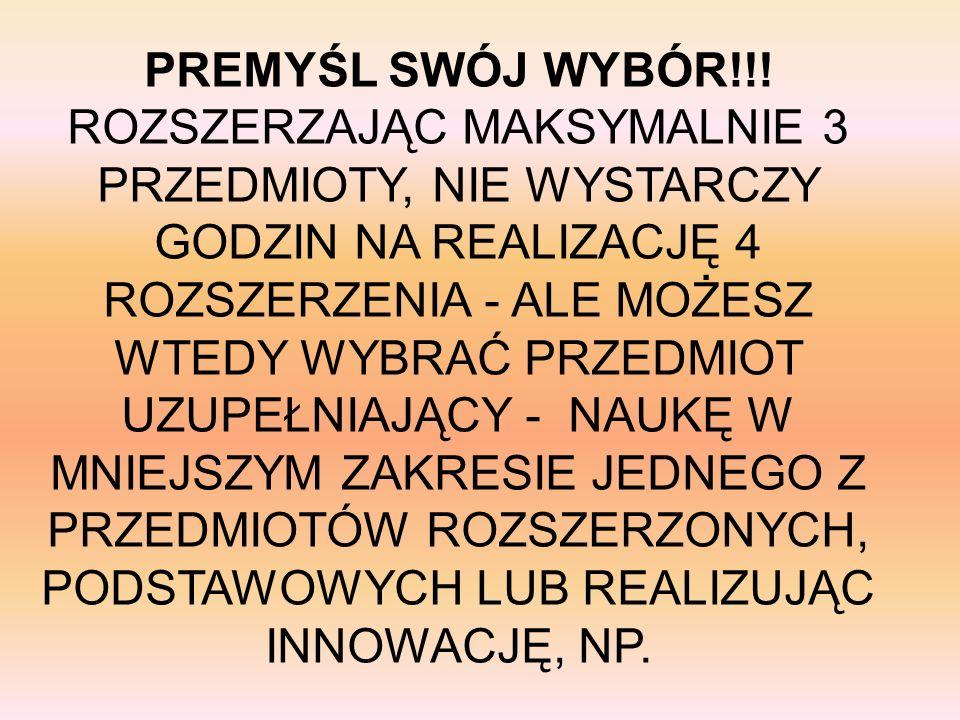 PREMYŚL SWÓJ WYBÓR!!.