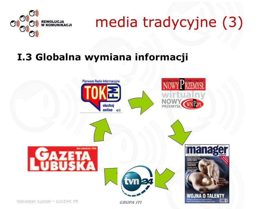 Sebastian Łuczak – ŁUCZAK PR media tradycyjne (3) I.3 Globalna wymiana informacji