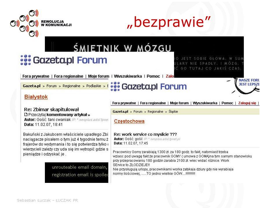 Sebastian Łuczak – ŁUCZAK PR bezprawie