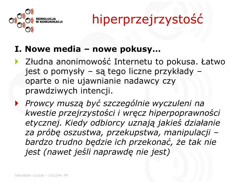 Sebastian Łuczak – ŁUCZAK PR I. Nowe media – nowe pokusy… Złudna anonimowość Internetu to pokusa. Łatwo jest o pomysły – są tego liczne przykłady – op