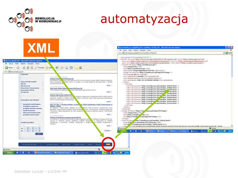 Sebastian Łuczak – ŁUCZAK PR automatyzacja XML