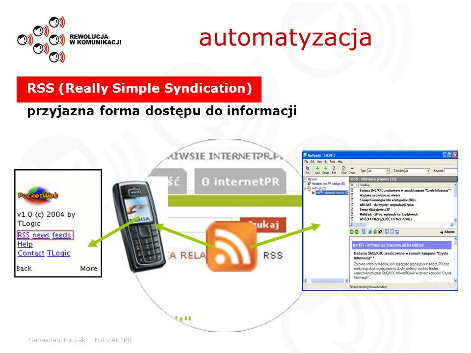 Sebastian Łuczak – ŁUCZAK PR RSS (Really Simple Syndication) przyjazna forma dostępu do informacji automatyzacja
