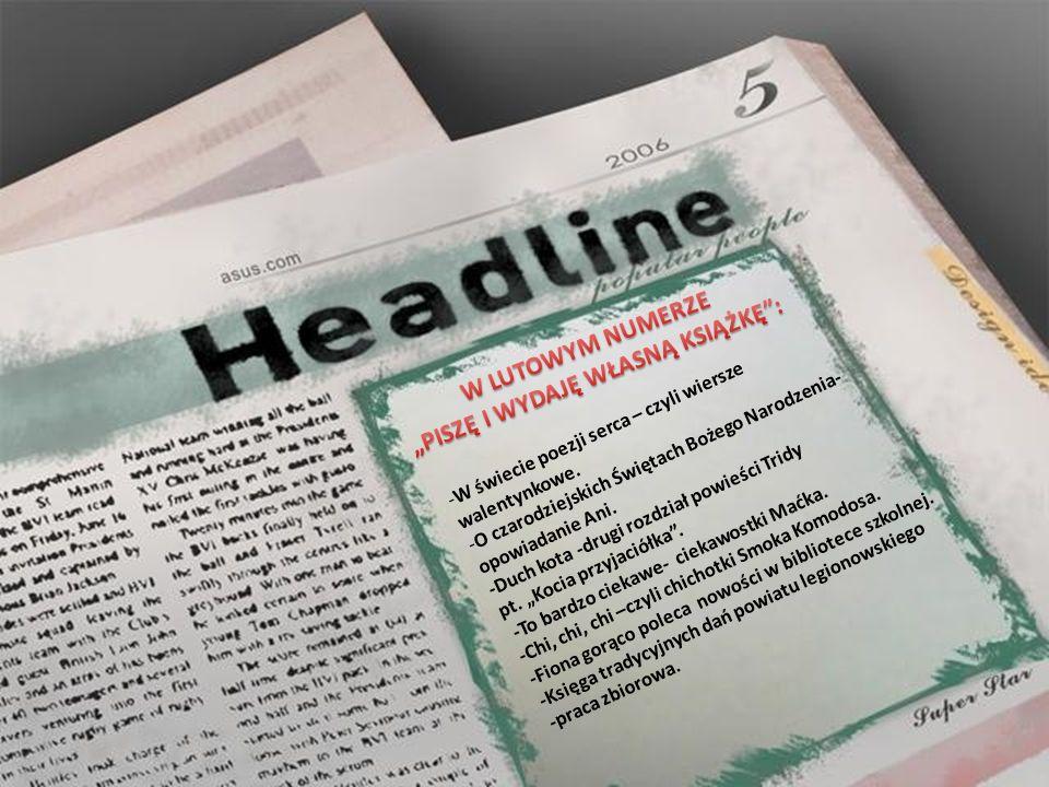 Celem gazetki jest promowanie talentów pisarskich uczniów Szkoły Podstawowej nr 7.