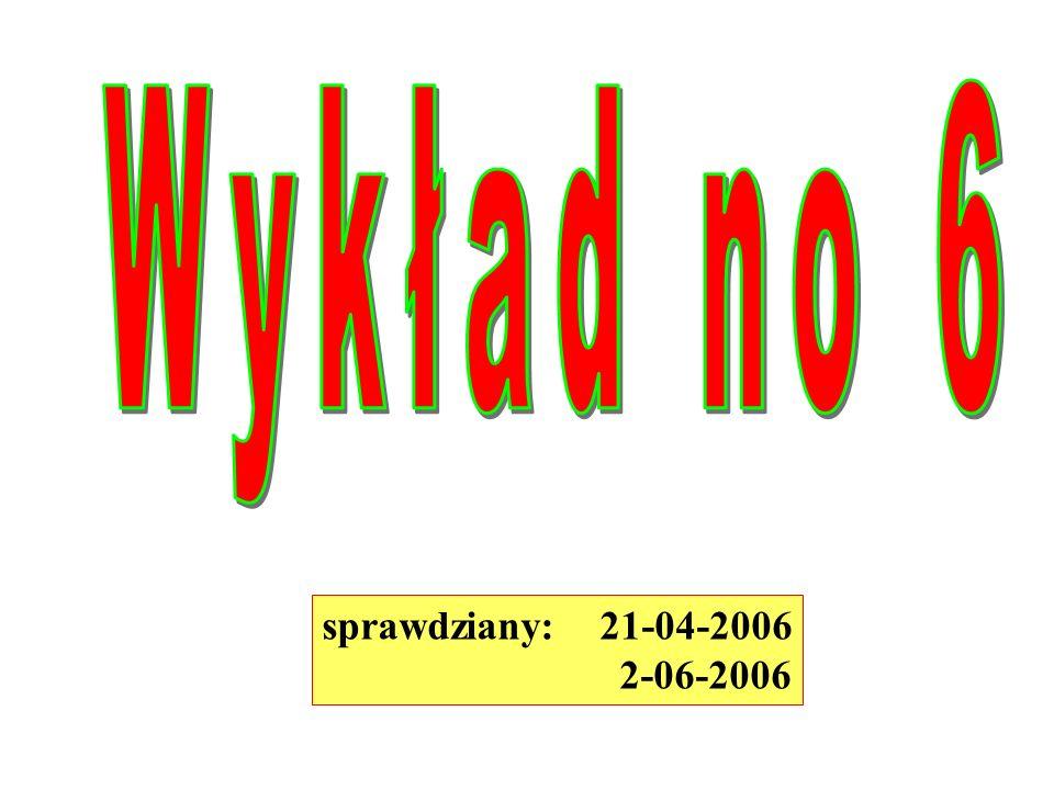sprawdziany: 21-04-2006 2-06-2006