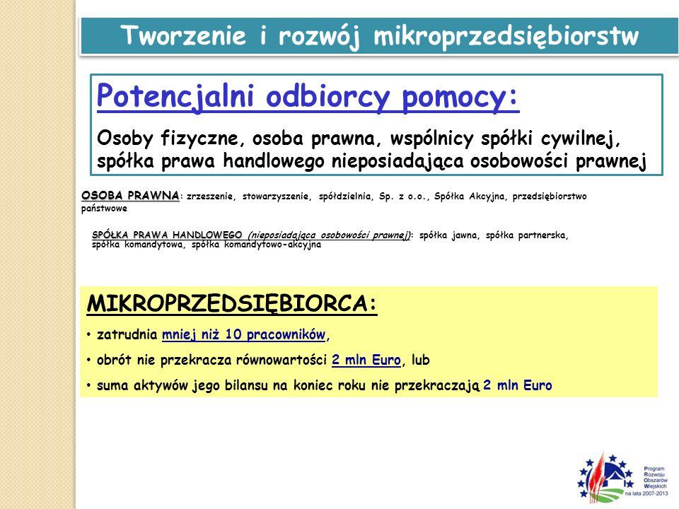 Tworzenie i rozwój mikroprzedsiębiorstw Jak określamy status MIKROPRZEDSIĘBIORCY: Podstawa prawna: Podstawa prawna: ZALECENIA KOMISJI 2003/361/WE zawarte w załączniku Nr 1 rozporządzenia Komisji (WE) 800/2008 z dnia 6 sierpnia 2008 r uznające niektóre rodzaje pomocy za zgodne ze wspólnym rynkiem w zastosowaniu art.
