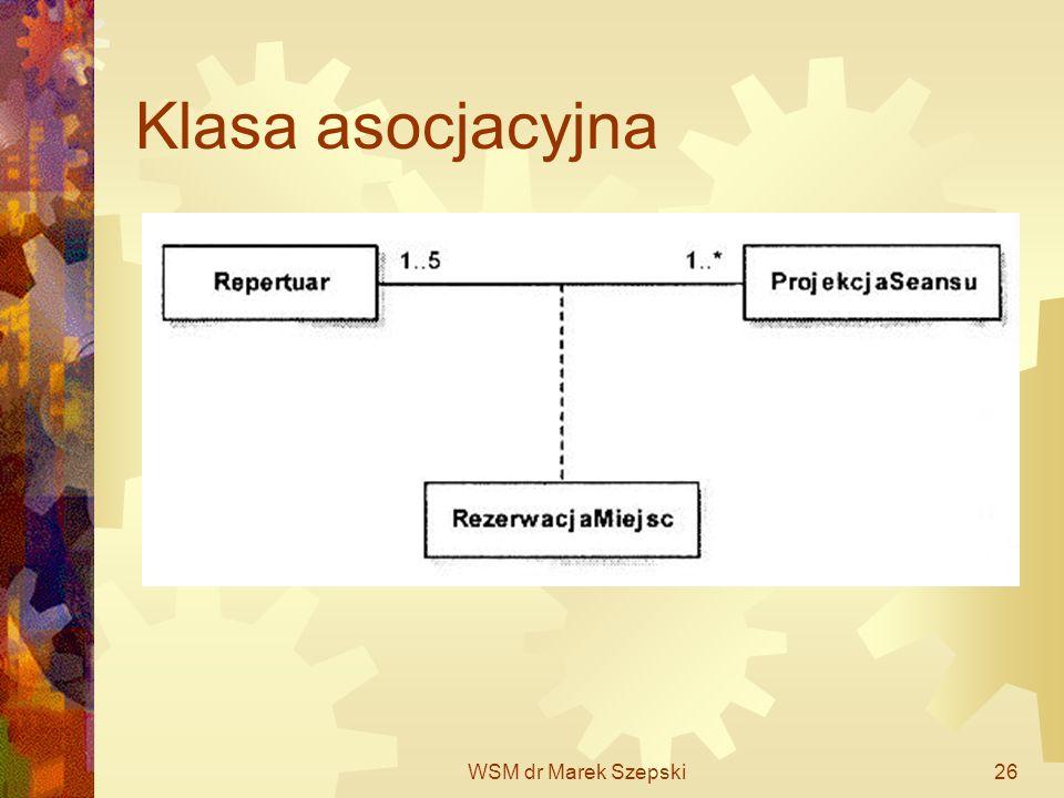 WSM dr Marek Szepski26 Klasa asocjacyjna