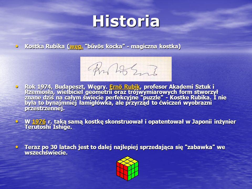 Historia Kostka Rubika (węg.