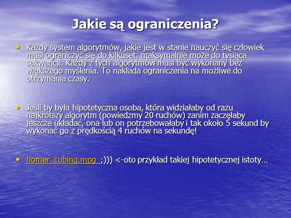Pewne nadzieje wiązane są z systemem Zborowski-Bruchen, który wymaga opanowania 300 algorytmów i pozwala zmniejszyć przez to liczbę ruchów.