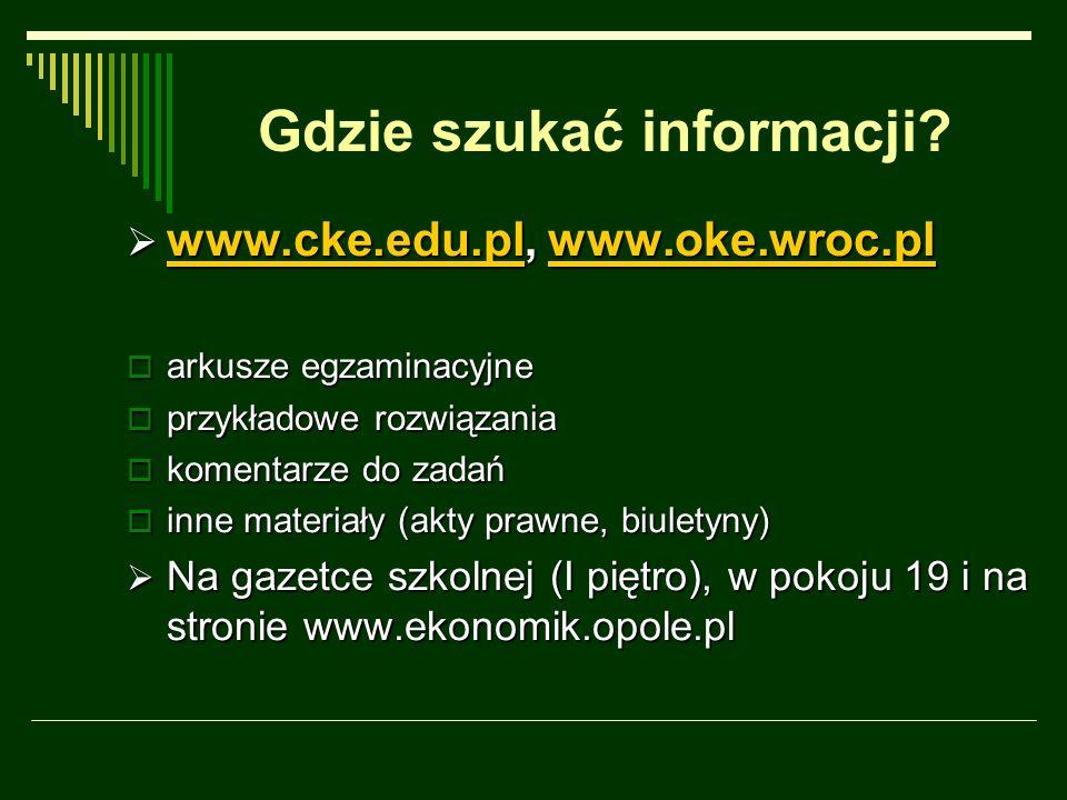 Gdzie szukać informacji.