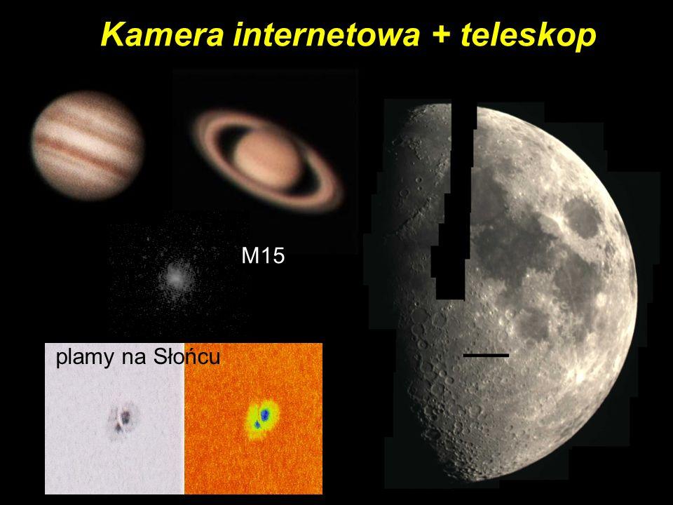 Kamera internetowa + teleskop M15 plamy na Słońcu