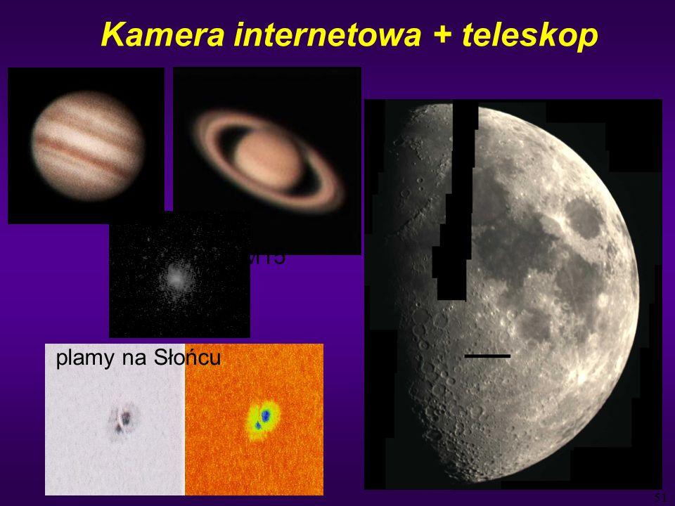 51 Kamera internetowa + teleskop M15 plamy na Słońcu