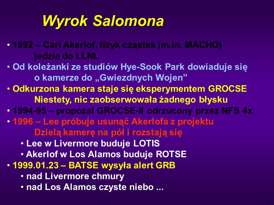 56 Wyrok Salomona 1992 – Carl Akerlof, fizyk cząstek (m.in.