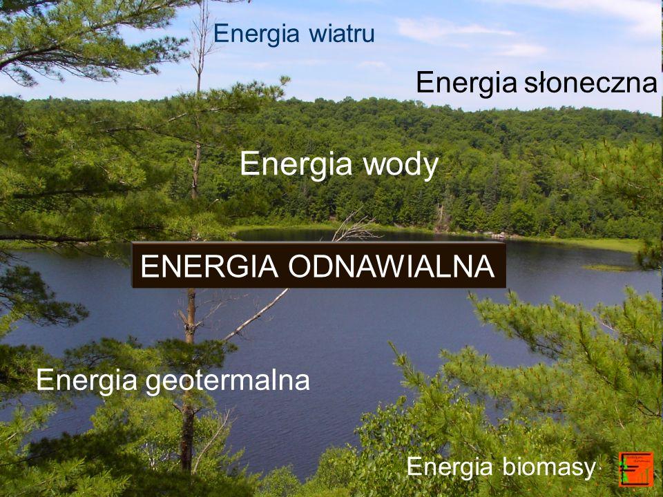 ENERGIA ODNAWIALNA Energia geotermalna Energia biomasy Energia wiatru Energia słoneczna Energia wody
