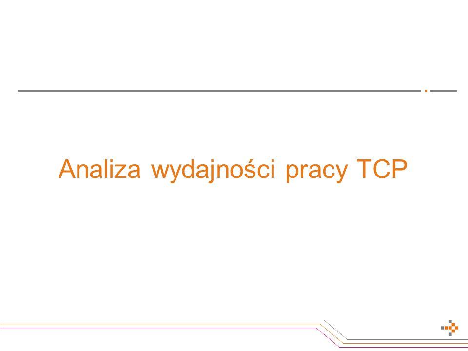 Analiza wydajności pracy TCP