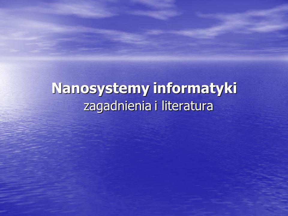 Cel wykładu Przedstawienie w przystępny sposób stanu wiedzy z dziedziny nanotechnologii, jako nauki interdyscyplinarnej.