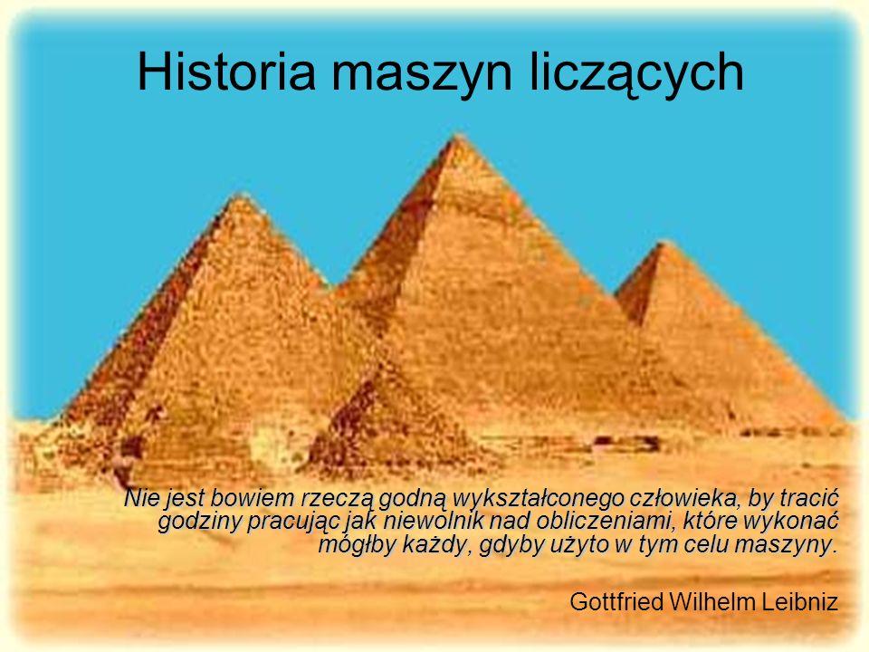 Po co.Historia informatyki może nam najlepiej pokazać czym obecnie jest informatyka.
