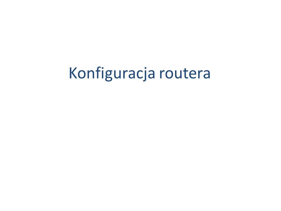 Konfiguracja routera