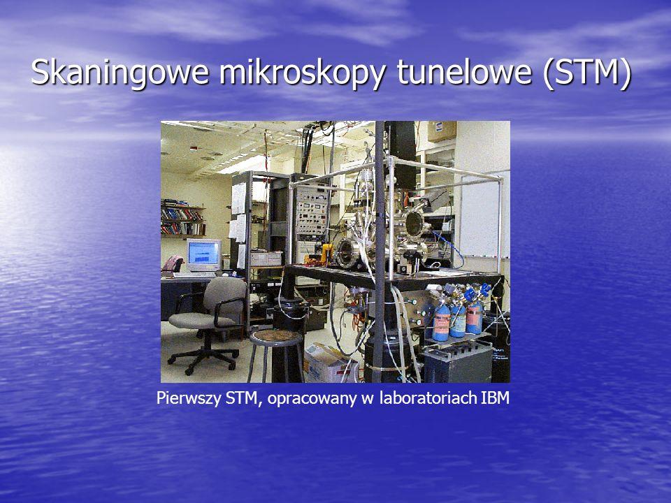 Skaningowe mikroskopy tunelowe (STM) Pierwszy STM, opracowany w laboratoriach IBM