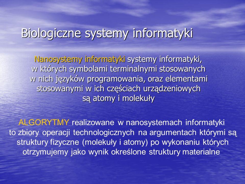 Nanosystemy informatyki systemy informatyki, w których symbolami terminalnymi stosowanych w nich języków programowania, oraz elementami stosowanymi w