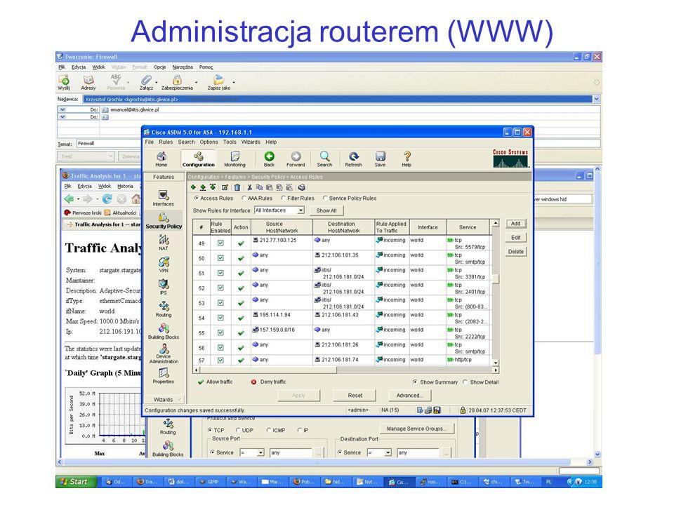 Administracja routerem (WWW)