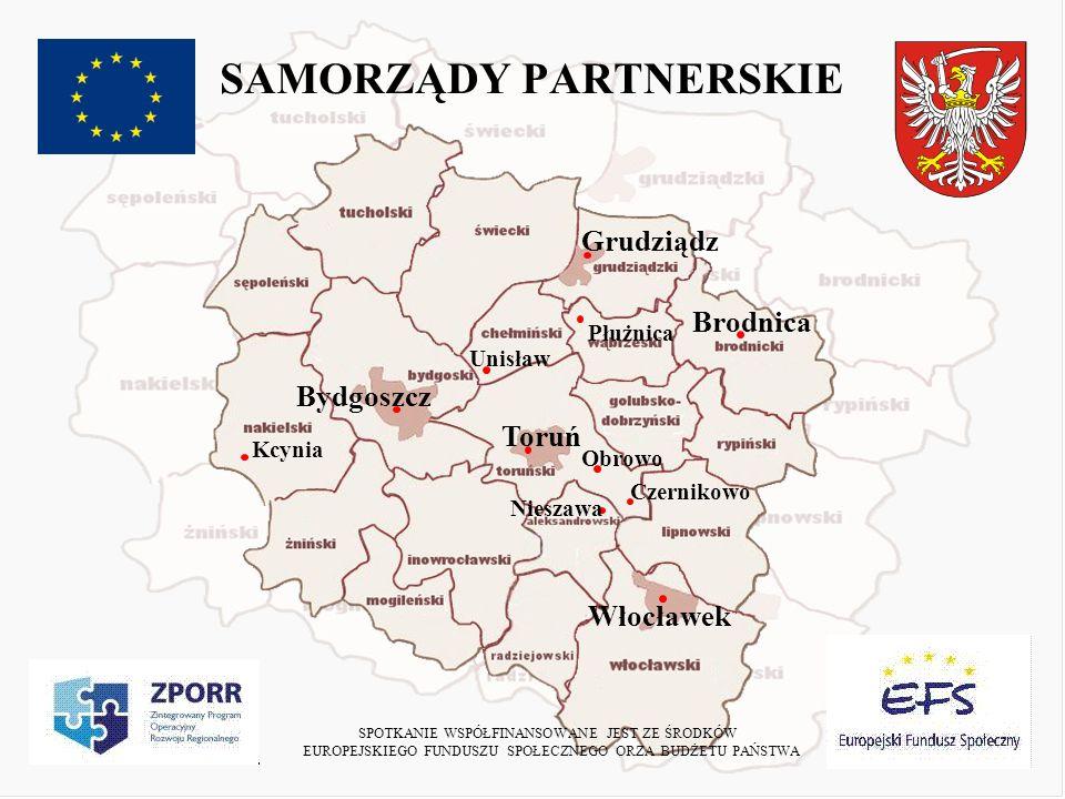 ZALETY I WADY PROJEKTU +Budowanie ścisłej współpracy w ramach regionu +Całkowita konsumpcja środków +Brak wartościowania pod względem położenia geograficznego i wielkości Niepotrzebna biurokracja i zagmatwane procedury Częsty brak i zmienność wytycznych Znaczne opóźnienia wypłat SPOTKANIE WSPÓŁFINANSOWANE JEST ZE ŚRODKÓW EUROPEJSKIEGO FUNDUSZU SPOŁECZNEGO ORZA BUDŻETU PAŃSTWA