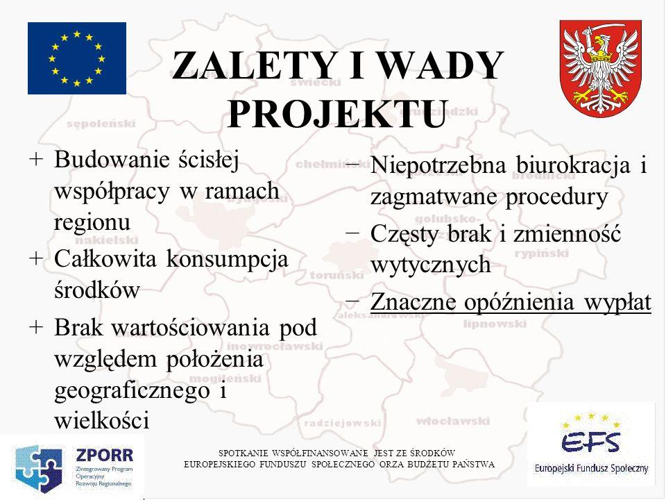 Schemat organizacyjny Koordynator – Powiat Toruński Urząd Marszałkowski 30 Partnerów 177 Szkół Beneficjenci Umowa o dofinansowanie Umowa partnerska Przekazanie do realizacji Umowa stypendialna SPOTKANIE WSPÓŁFINANSOWANE JEST ZE ŚRODKÓW EUROPEJSKIEGO FUNDUSZU SPOŁECZNEGO ORZA BUDŻETU PAŃSTWA