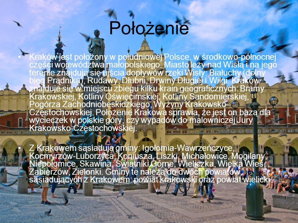Położenie Kraków jest położony w południowej Polsce, w środkowo-północnej części województwa małopolskiego.