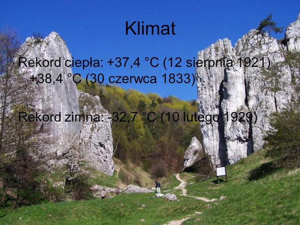 Klimat Rekord ciepła: +37,4 °C (12 sierpnia 1921) +38,4 °C (30 czerwca 1833) Rekord zimna: -32,7 °C (10 lutego 1929)