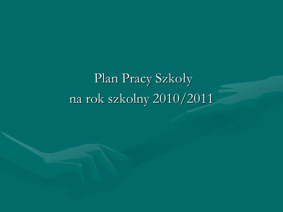 Plan Pracy Szkoły Plan Pracy Szkoły na rok szkolny 2010/2011