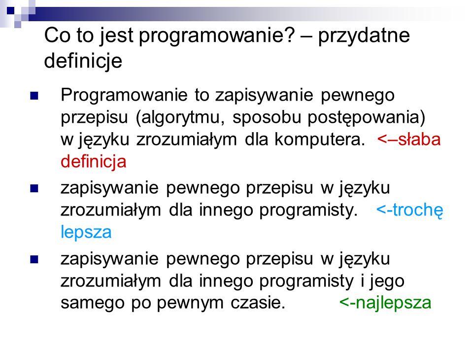 Jak pisać dobre programy.