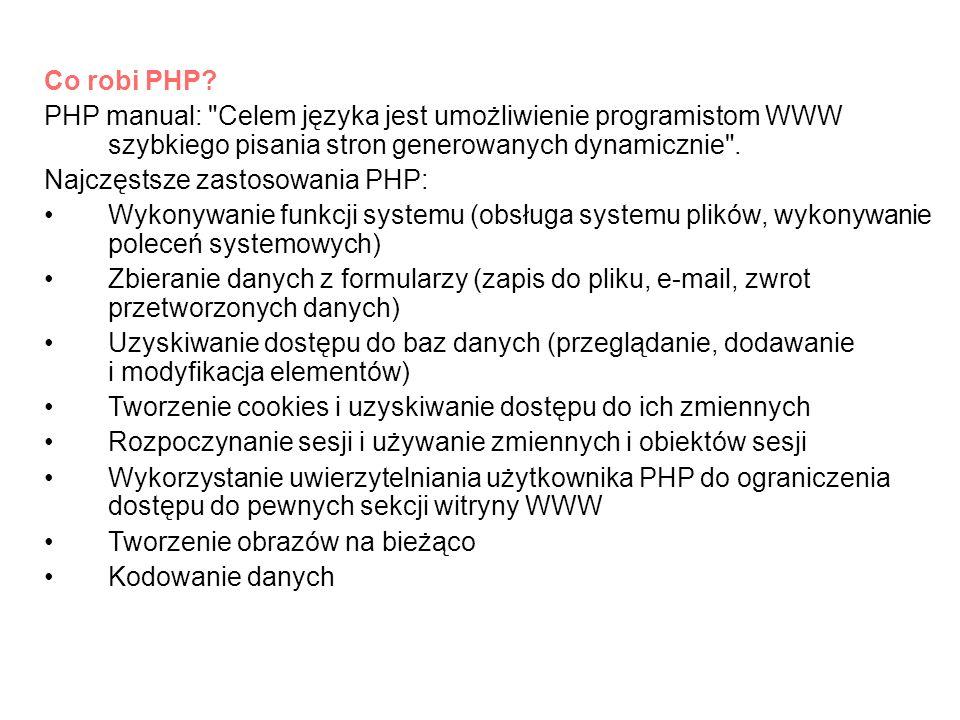 Przykłady zastosowań PHP: Sklepy internetowe, aukcje, przetargi itp.