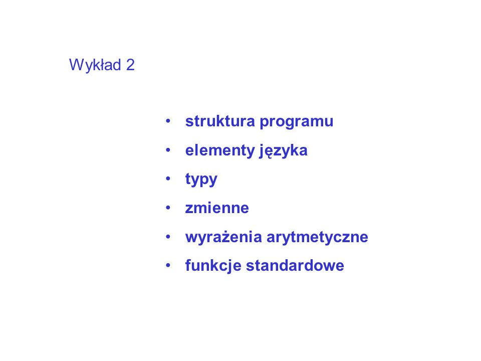 Prosty program procedure TForm1.Button1Click(Sender: TObject); var a,b,c:integer; //całkowite begin a:=StrToInt(Edit1.Text); //z Edit do zmiennej b:=StrToInt(Edit2.Text); //z Edit do zmiennej c:=a+b; Edit3.Text:=IntToStr(c); // do Edit end;